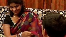 South Indian Housewife with Friend Husband for Money