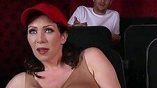Dude fucks stepmom in the porn theater