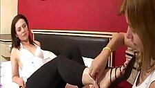 Lesbians Foot Domination