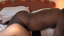 young wife get fucked by a black buddy on cam
