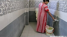 Sexy Hot Indian Bhabhi Dipinitta Taking Shower After Rough Sex