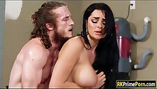 Big tits get fucked in the garage