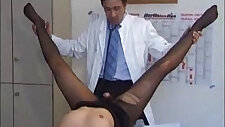 Nylon sexy receptionist fetish