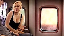 Sister fifi foxx gives brother aiden valentine a bj on airplane