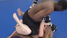 Interracial MMA Mixed Wrestling Male vs Female