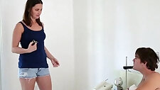 Teen Step Sister Blows Both Her Brothers