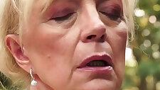 Jizz mouthed grandma blow
