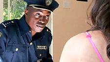 Trespassing Teen horny amateur brunette Gets Interracial