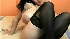 Turkish milf brandi love sex with two black girl with huge natural tits on webcam