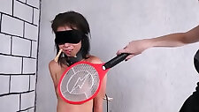 Teen latina BDSM femdom submissives electro tortured punishment by st