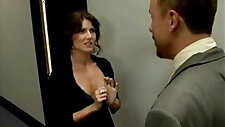 office secretary jenni lee punished by boss for coming late
