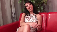 Sublime busty brunette hard style anal fucked and cum to mouth for her casting