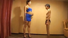 Tall Japanese Trampling Mixed Wrestling