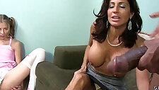 Milf mommy gets fingered and fucked by big black monster