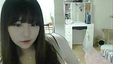 Pretty girl recording on camera
