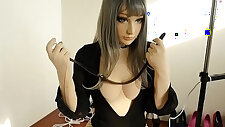 Doll self bondage Breath paly Fainted