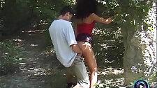 Adventurous couple Eva and Geza doing it at public