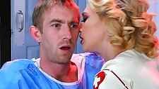 Nurse Kagney Linn Karter cures patient bang with anal sex