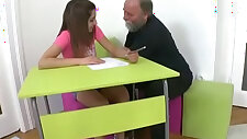 Tricky Old Teacher Ulia is a sexy student who is having school trouble