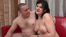Anal casting of an Amateur couple caught fucking with chubby slut ass fucked hard and deep hard plugged