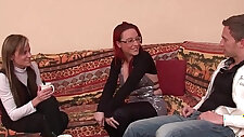 FFM Pretty asian milf gets fucked hard and deep anal penetration for her casting couch