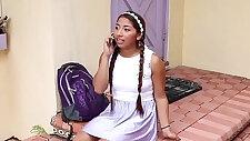 Latin teen hottie gets her huge facial