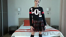 18 years old teen naughty girl get her first anal casting