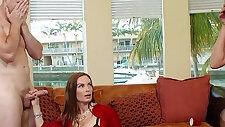 Naughty moms Diamond Foxxx and Marsha May share big cock