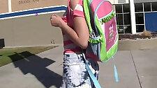 WANKZ Hot Emo Schoolgirl Alexis Eats Her Teachers Spunk