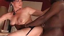 Hot Granny sucks and Fucks A Big Black Cock